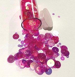 Paetê/lantejoulas tons rosa chiclete  - Importado