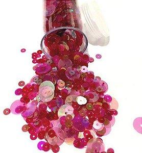 Paetê/lantejoulas tons rosa diversos  - Importado