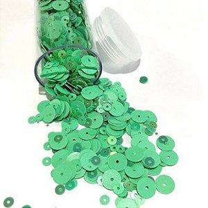 Paetê/lantejoulas tons verde menta - Importado