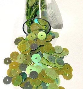 Paetê/lantejoulas tons verde vintage - Importado