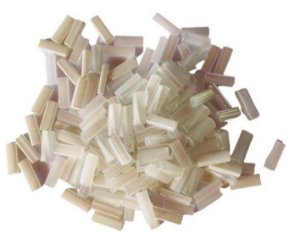 Kit de canutilhos, tons de branco/transparente - Importado