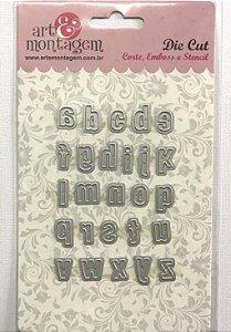 Faca de Corte Alfabeto minúsculo - Art e Montagem