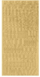Alfabeto dourado em chipboard - My Memories Crafts