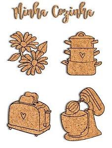 Kit de cortiças adesivadas Cozinha My Kitchen - My Memories Crafts