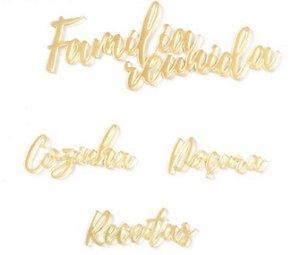 Kit de palavras em acrílico Cozinha - My Kitchen - My Memories Crafts