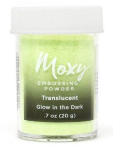 Pó para emboss Translúcido - Glow in the dark - Moxy - American Crafts