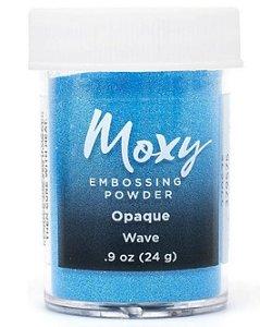 Pó para emboss Wave- Azul - Moxy - American Crafts