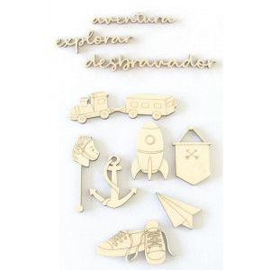 Madeirinhas 10 peças - Pequenos Desbravadores - Dany Peres
