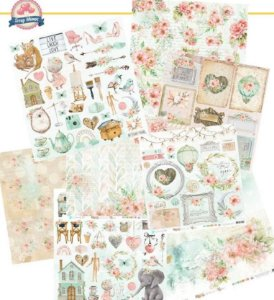 Kit 8 papeis de scrapbook Waiting For - Carina Sartor