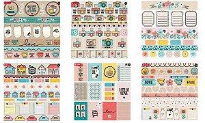 Kit 6 papeis scrapbook 30x30 coleção Click & Love - Goodies
