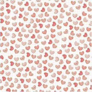 Papel de scrapbook Fornada de Amor - Sweet Love - Dany Peres