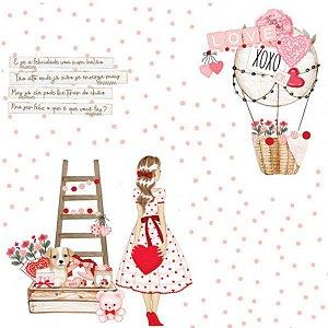 Papel de scrapbook Apaixonada - Sweet Love - Dany Peres