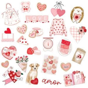 Papel de scrapbook Surpresinhas - Sweet Love - Dany Peres