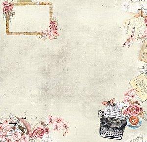 Papel de scrapbook Prosa - Poesia - Dany Peres