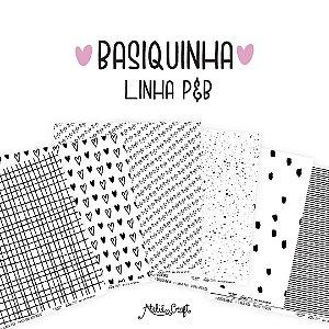 Kit 6 papeis de scrapbook Basiquinha- Ateliê Craft