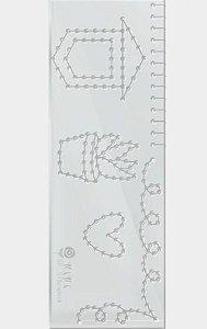Régua de costura Plantinhas - Quarentena Criativa - Juju Scrapbook