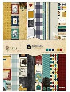 Bloco de papel scrapbook A4 Família para sempre - Juju Scrapbook