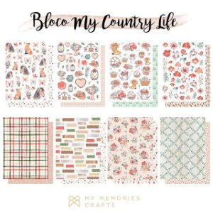 Bloco de papel scrapbook A5 My Country Life - My Memories Crafts