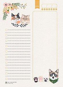Miolo permanente para agenda My Cat - Gatos - My Memories Crafts