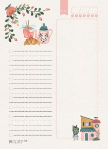 Miolo permanente para agenda My Home - My Memories Crafts