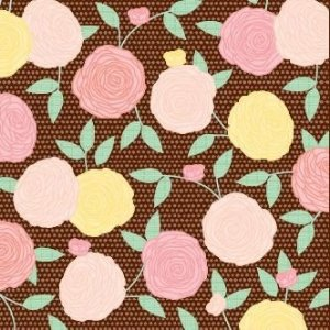 Tecido adesivado - Apricot Afternoon - Fabric Finish - American Crafts