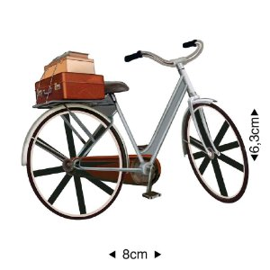 Aplique em MDF - Bicicleta malas-  APM8-542 - Litoarte