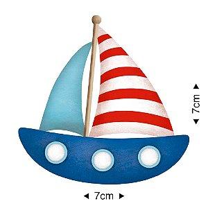 Aplique em MDF - Barco=  APM8-827 - Litoarte