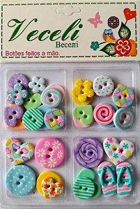 Botões Coloridos - Blister - Veceli