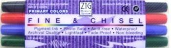 Kit de canetas com duas pontas Fine & Chiesel - Primary - Zig