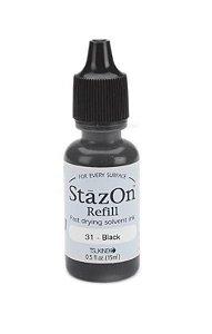 Refil para carimbeira preta (Jet Black) - Stazon