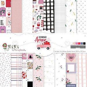 Kit Coordenado - Coleção Espalhando Amor - JuJu Scrapbook