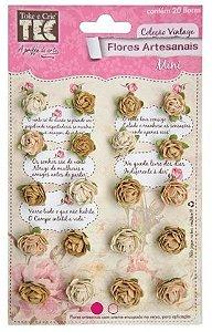 Flores artesanais Mini - Nude - Toke e Crie