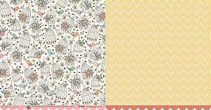 Papel para scrapbook - 30x30 Garden Party - Lisianto - Scrapdiary
