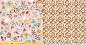 Papel para scrapbook - 30x30 Four Seasons - Primavera - Scrapdiary