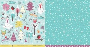 Papel para scrapbook - 30x30 Four Seasons - Inverno - Scrapdiary