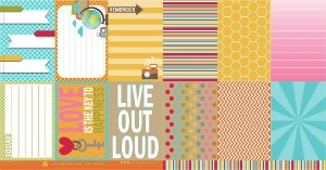 Papel para scrapbook - 30x30 Simple Pleasures - Moments- Scrapdiary