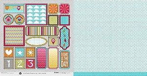 Papel para scrapbook - 30x30 Simple Pleasures - Frames - Scrapdiary