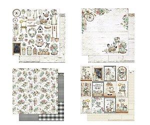 Kit 4 papéis coleção Country - Litoarte