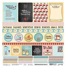 Papel para scrapbook Cozinha - Ovo Frito - Goodies