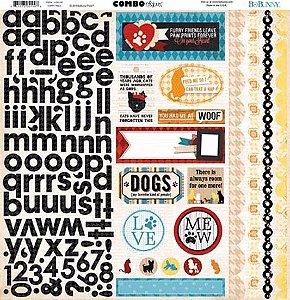 \Adesivo 30x30 - Happy Tails - Bo Bunny