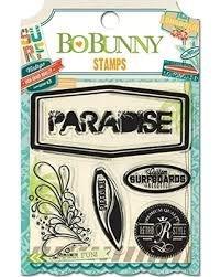 Cartela de carimbos de silicone (clear) Key Lime - Bo Bunny
