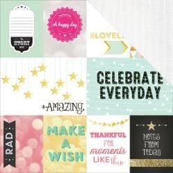 - Papel Scrapbook - Dream in Color Storyteller Card Sheet I - Webster Pages