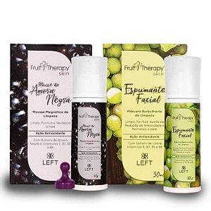 Kit Skin Care Incrível | Mousse de Amora Negra + Espumante Facial de Uva Verde Fruit Therapy Skin (1x60g+1x30ml)