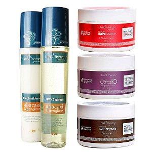 Cronograma Gourmet Kit Home Care (Shampoo + Condicionador + 3 máscaras 250g)