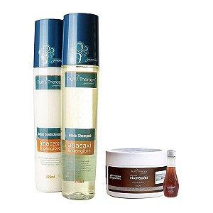 Kit Detox Shampoo e Condicionador 2x275ml + Creme Brûlée Máscara 250g e Finalizador 60ml