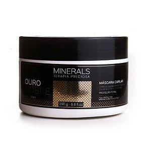 Máscara Minerals Ouro Nobre 250g Cabelos com Química