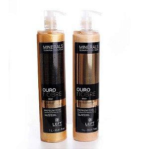 Kit Shampoo + Condicionador Minerals Ouro Nobre 2x1L Cabelos com Química