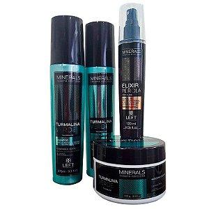Kit Turmalina Verde (Shampoo e Condicionador 2x275ml + Máscara 250g) + Elixir Pérola