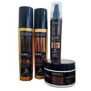 Kit Ouro Nobre (Shampoo e Condicionador 2x275ml + Máscara 250g) + Elixir Pérola