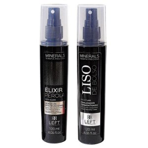 Elixir Pérola Leave-in 120ml + Liso de Bolso 120ml Minerals